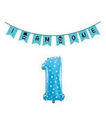 Party Propz 1st Birthday Decoration Set - Blue