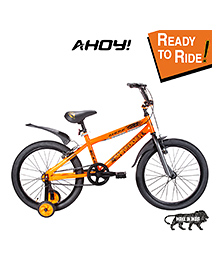 AHOY  Bicycle With Training Wheels Orange - 16 Inches