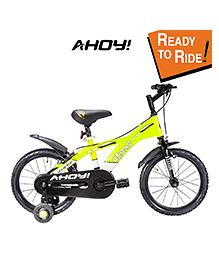 Ahoy Ready To Ride Bicycle  Neon Yellow - 16 Inches