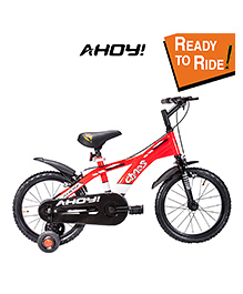 Ahoy Ready To Ride Bicycle  Red - 16 Inches