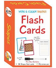 Art Factory Wipe & Clean Flash Cards Shapes Theme Multi Color - Pack Of 30