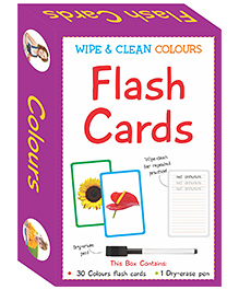 Art Factory Wipe & Clean Flash Cards Colors Theme Multi Color - Pack Of 30