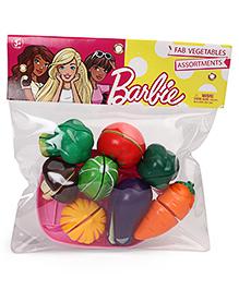 Barbie Mini Vegetable Set Pink Pack Of 8 - Multi Color