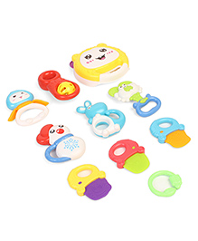 Dr.Toy Baby Rattle & Teether Set Pack Of 10 - Multi Color