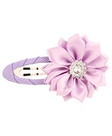 Baby Angel Flower Hair Clip - Purple