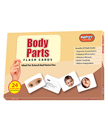 Krazy Parts Of Body Flash Cards Multi Color - Pack Of 24