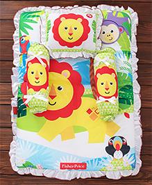 Fisher Price Mattress Set Lion & Monkey Print Multi Colour - 4 Pieces