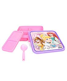 Disney Princess Slim Lunch Box - Pink & Purple