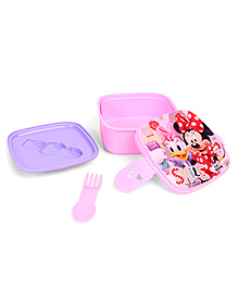 Disney Minnie Mouse & Daisy Duck Lunch Box With 2 In 1 Fork & Spoon - Pink