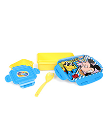 Disney Mickey Mouse & Friends Lunch Box With Clip Lock - Yellow Blue
