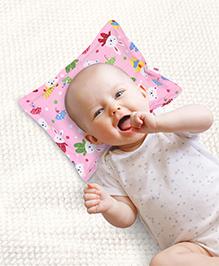 Babyhug Rectangle Pillow Rabbit Print - Pink