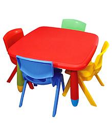 Yoto Square Table & Chair Set - Multi Color