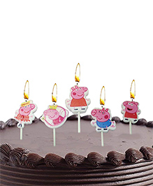 Party Propz Peppa Pig Theme Candles - Pack Of 5