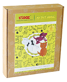 Kidoz My Pet Animals Pack Of 3 Animals - Multicolour