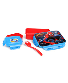 Marvel Spider Man Lunch Box With Clip Lock - Red & Blue