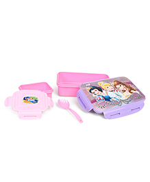 Disney Princess Lunch Box With Clip Lock - Pink Purple
