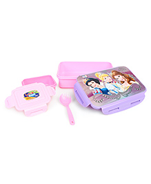 Disney Princess Lunch Box With Clip Lock Feature - Purple & Light Pink