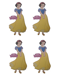 Party Anthem Snow White Wall Sticker Pack Of 4 - Yellow