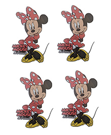 Party Anthem Minnie Mouse Wall Sticker Pack Of 4 - Red