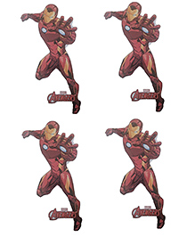 Party Anthem Iron Man Wall Sticker Pack Of 4 - Red