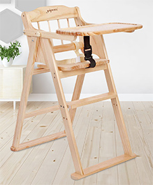 Wooden High Chair - Brown