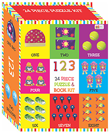 Art Factory Numbers Puzzle & Book Kit Multicolour - Pack Of 24 Pieces