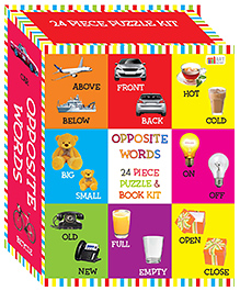 Art Factory Words Puzzle & Book Kit Multicolour - Pack Of 24 Pieces