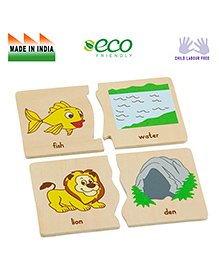Eduedge Animal Home Matching Game - Multi Color