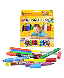 Toys Bhoomi Malinos Magic Colour Pen Pack Of 10 - Multi Colour