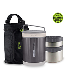 Home Puff Vacuum Insulated Stainless Steel Lunch Box - Metallic Grey