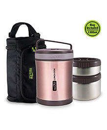 Home Puff Vacuum Insulated Stainless Steel Lunch Box - Rose Gold