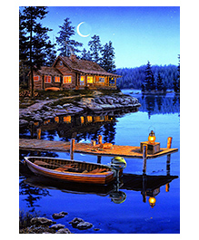Buffalo Games Crescent Moon Bay Jigsaw Puzzle Multicolour - Pack Of 300 Pieces