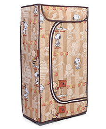 Storage Unit With 3 Shelves Snoopy Print - Brown
