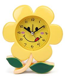Flower Shaped Clock - Yellow