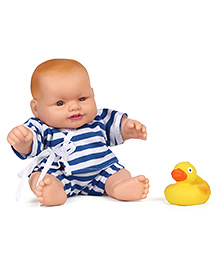 Speedage Arjun Baba Deluxe Doll With Toy Duck Blue White - 16.5 Cm