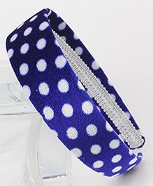 Tia Hair Accessories Polka Dot Hairband - Blue