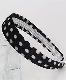 Tia Hair Accessories Polka Dot Hairband - Black