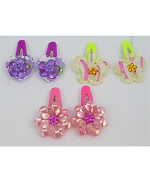 Tia Hair Accessories Sets Of Three Alligator Clip - Multi-Color