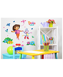 Asian Paints Dora Flower Field Wall Sticker - Multi Color