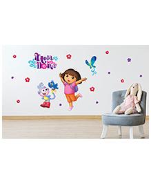 Asian Paints Peel And Stick Dora Birds And Butterflies Vinyl Wall Sticker XX Large - Multicolour