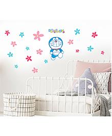 Asian Paints Peel And Stick Doraemon Flower Vinyl Wall Sticker Large - Multicolour