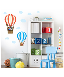 Asian Paints Peel And Stick Doraemon In Hot Air Balloon Vinyl Wall Sticker Extra Large - Multicolour