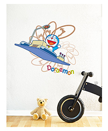 Asian Paints Peel And Stick Doraemon Back In Time Vinyl Wall Sticker Extra Large - Blue