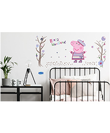 Asian Paints Peel & Stick Peppa Pig Extra Large Wall Sticker Pack Of 20 Pieces - Multicolour