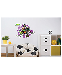 Asian Paints Peel & Stick Teenage Mutant Ninja Turtles Totally Awesome Vinyl Wall Sticker (Size: Extra Large, Wall Covering Area - 2 Sqft)
