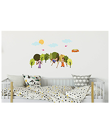 Asian Paints Peel Stick Chhota Bheem & Princess Indumati And Chutki Themed Wall Sticker Extra Large - Multicolour