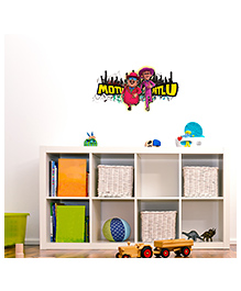 Asian Paints Peel And Stick Motu Patlu Colorful City Wall Sticker Large - Multicolor