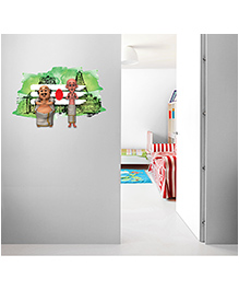 Asian Paints Peel And Stick Motu Patlu South Indian Avatar Wall Sticker Extra Large - Multicolor