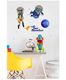Asian Paints Peel And Stick Motu Patlu South Space Adventure Wall Sticker Extra Large - Multicolor