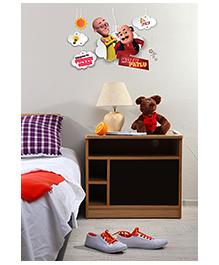 Asian Paints Peel & Stick Motu Patlu Mind Games Wall Sticker XL - Multi Color